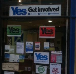 Argyllshire gathering and yes Scotland campaign