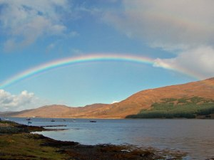 """Rainbow over Loch na Cairidh - geograph.org.uk - 998352"" by Richard Dorrell. Licensed under CC BY-SA 2.0 via Wikimedia Commons - http://commons.wikimedia.org/wiki/File:Rainbow_over_Loch_na_Cairidh_-_geograph.org.uk_-_998352.jpg#/media/File:Rainbow_over_Loch_na_Cairidh_-_geograph.org.uk_-_998352.jpg"