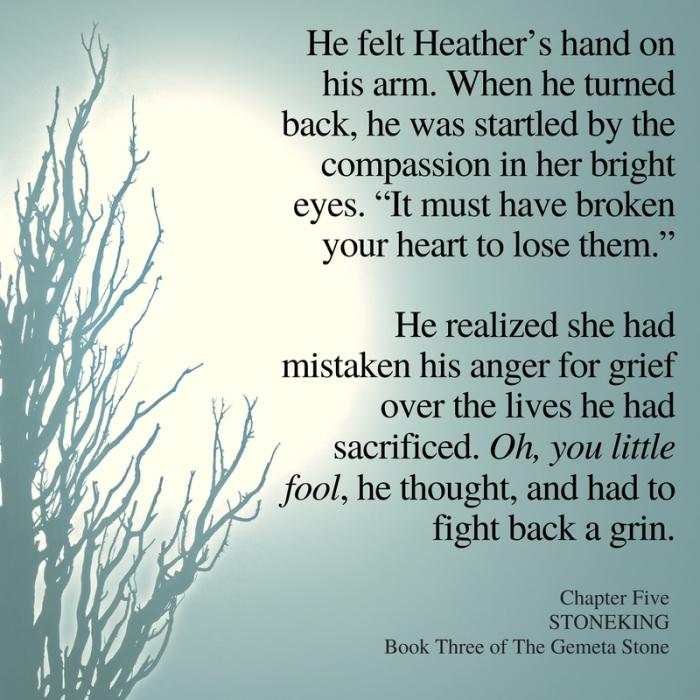 He felt Heather's hand on his arm